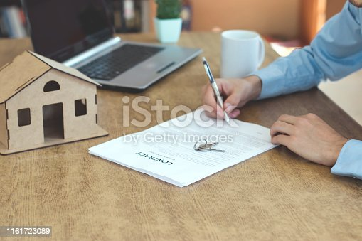475902363 istock photo Purchase agreement for new house 1161723089