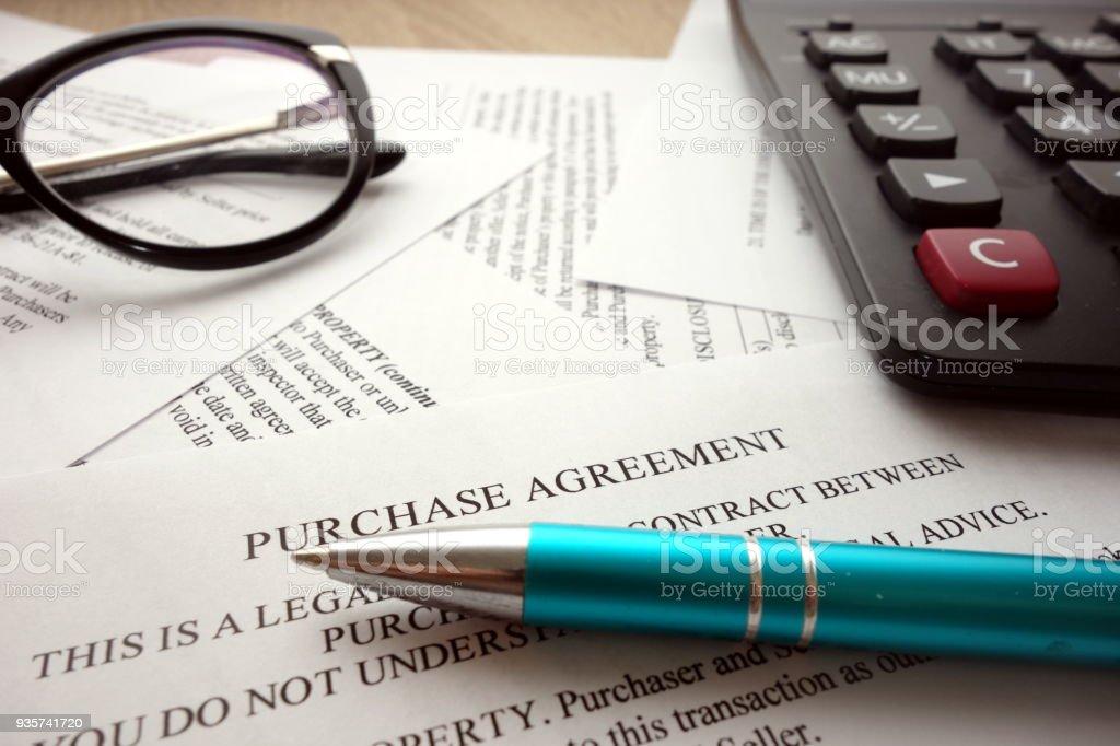 Contrat d'achat photo libre de droits