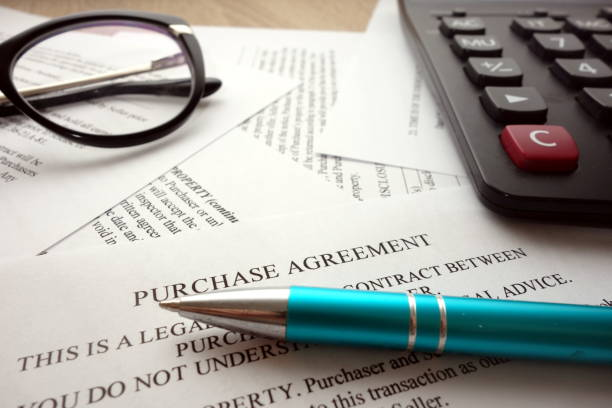 Purchase agreement stock photo