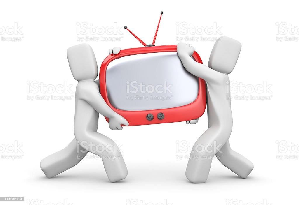 Purchase new TV stock photo