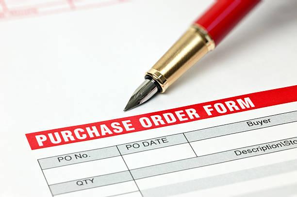Formulaire de commande d'achat - Photo