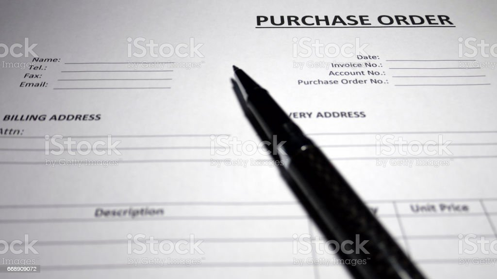 Purchase Order Form - Photo