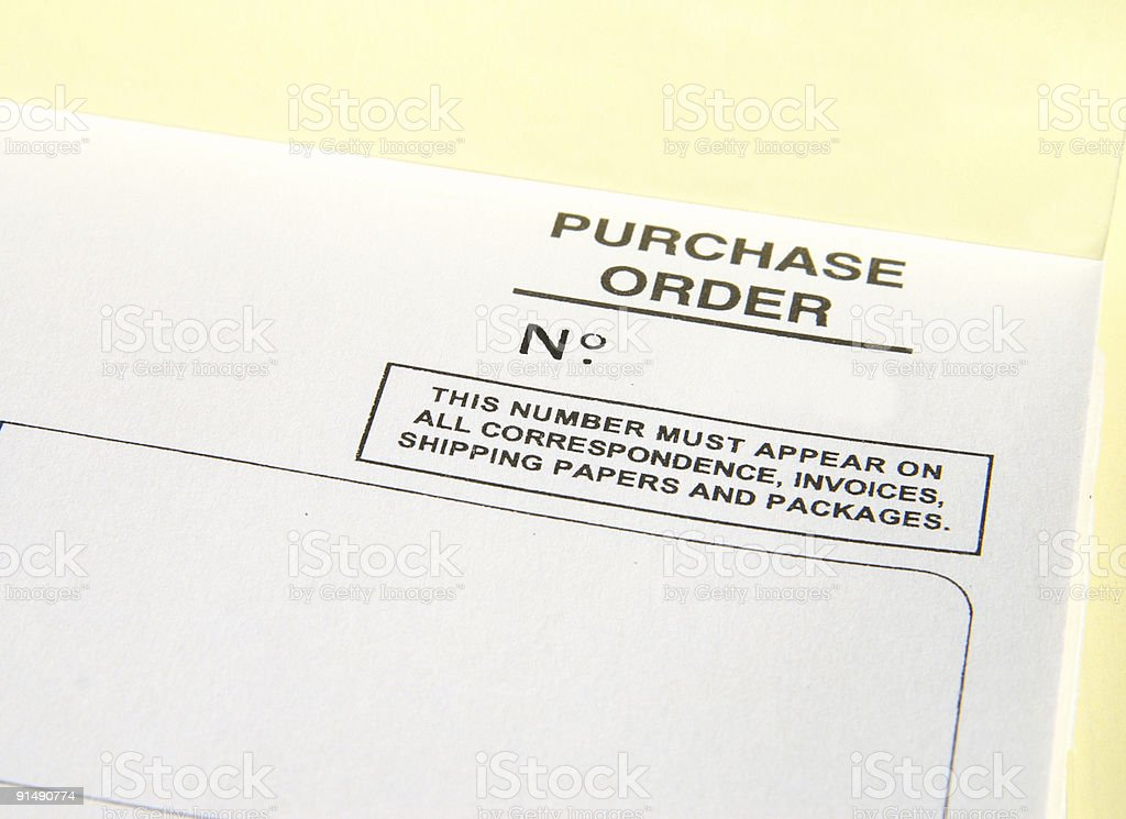 Purchase order number stock photo