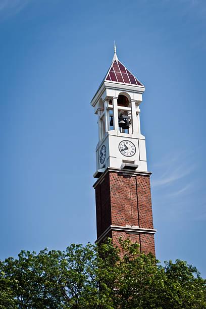 purdue bell tower, lafayette, indiana - purdue university stock-fotos und bilder