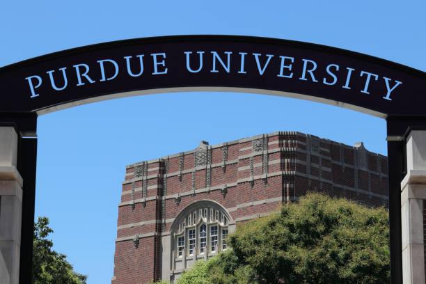 purdue welcome center an der purdue university i - purdue university stock-fotos und bilder