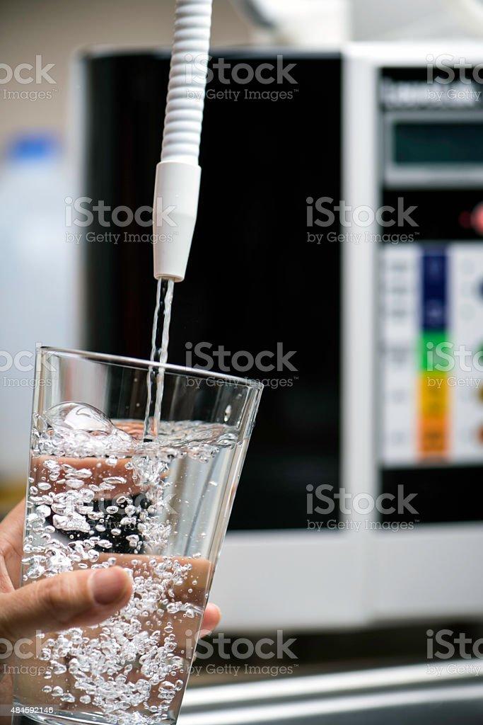 Pure alkaline drinking water stock photo