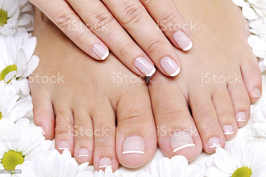 Pure and Beauty  female feet stock photo