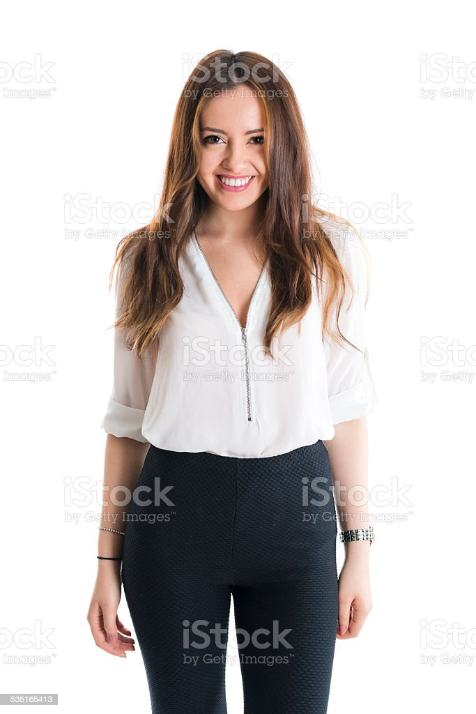 Pure and careless smile stock photo