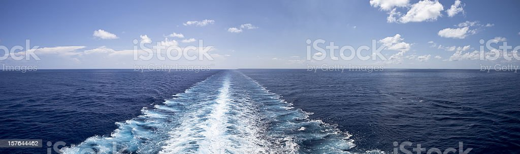 Pure Beautiful Calm Bliss at Sea stock photo