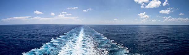 Pure Beautiful Calm Bliss at Sea stock photo