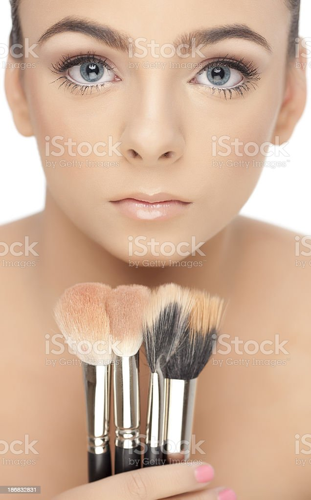Pure beauty clean fresh skin of woman face royalty-free stock photo