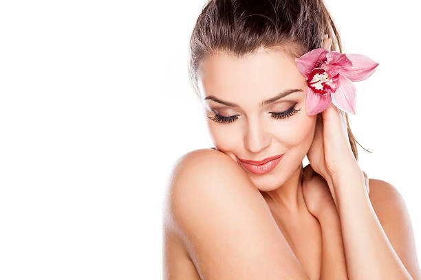 pure beauty - spa treatment stock photos and pictures