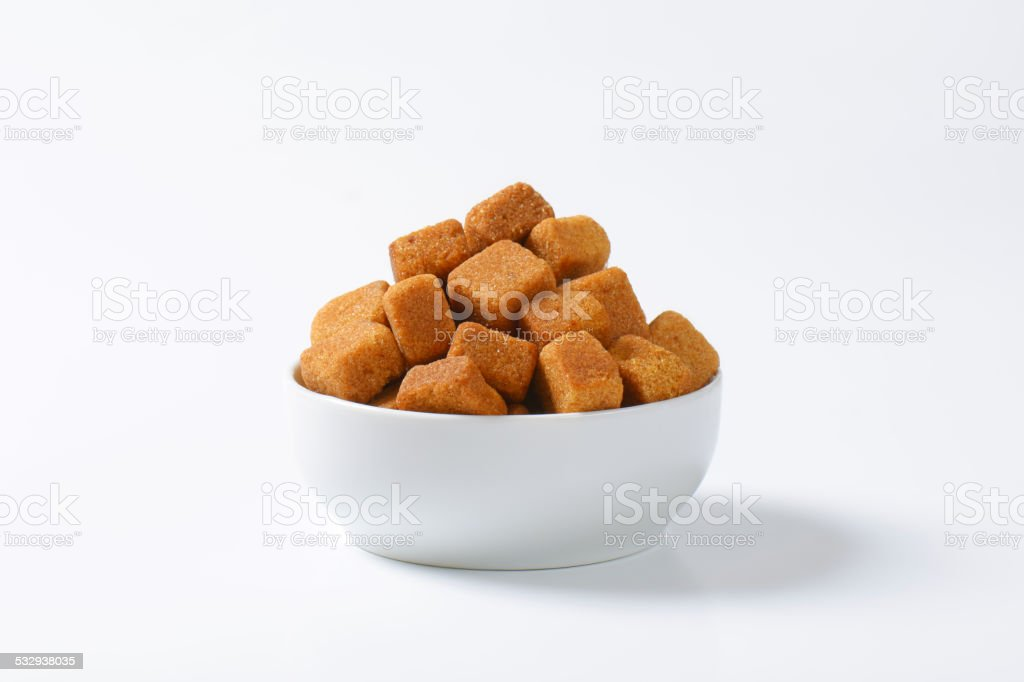 Pure cane sugar cubes stock photo