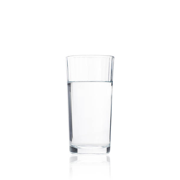 Pure drink water in glass stock photo