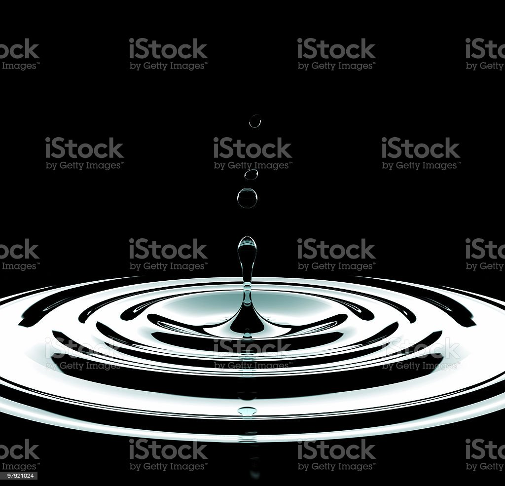 Pure drop. royalty-free stock photo