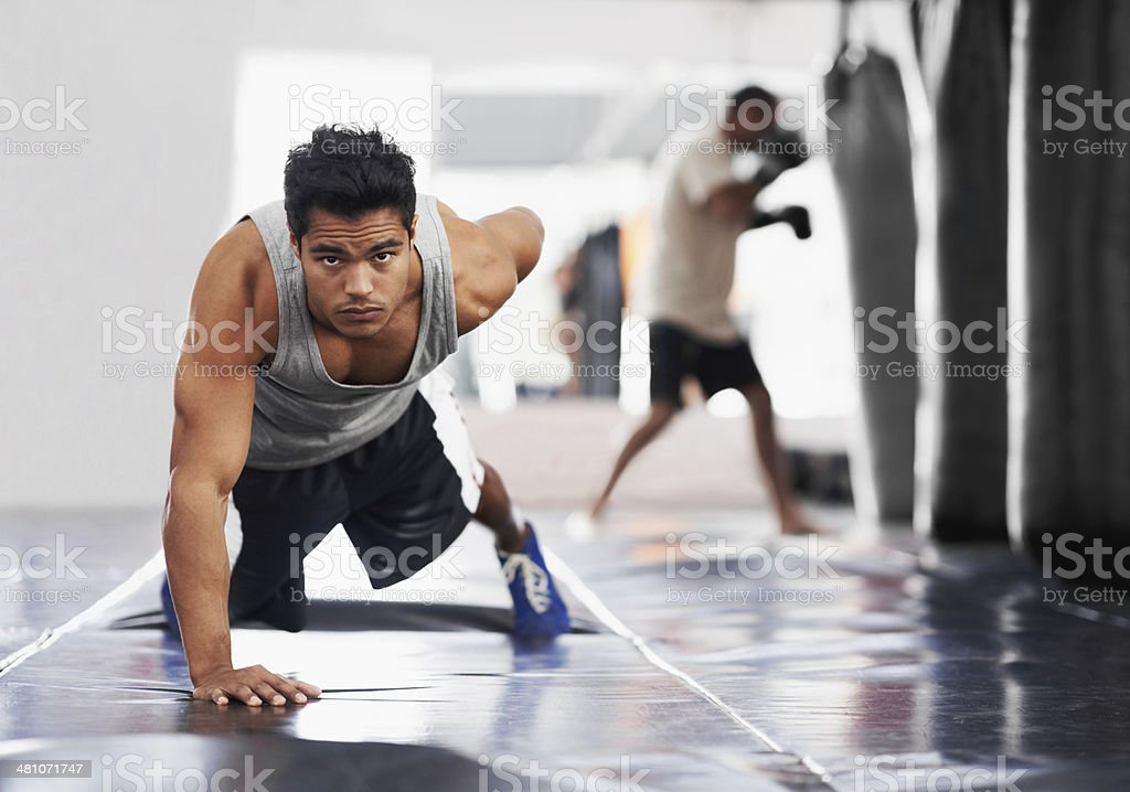 Pure fierce strength stock photo