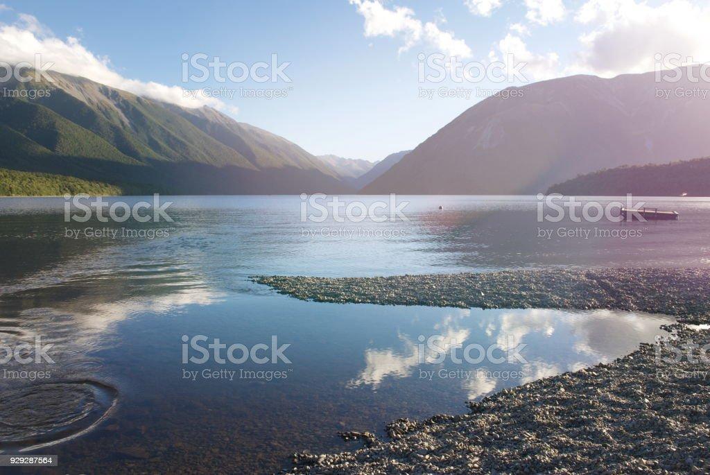 Pure Fresh Clear Lake Water Scene Stock Photo - Download