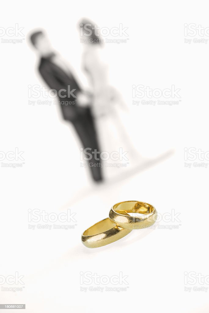 Pure gold wedding rings royalty-free stock photo