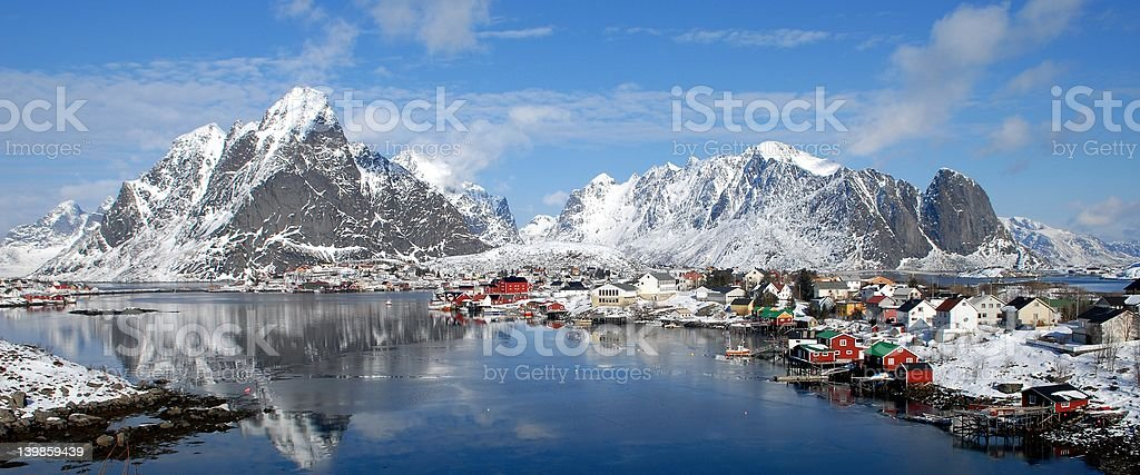 Reine in Lofoten 2 stock photo