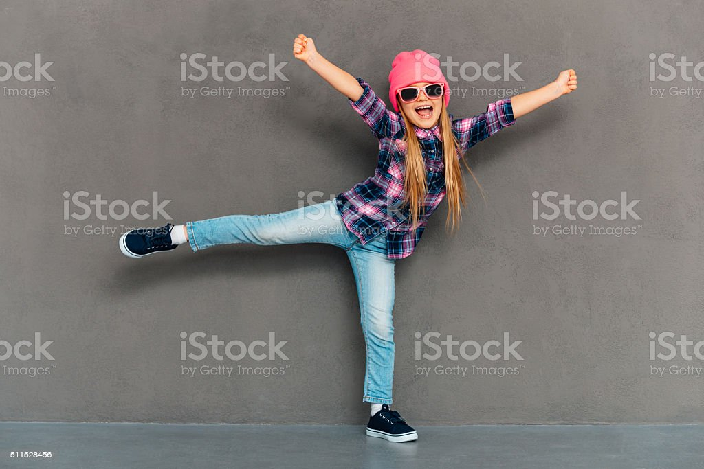 Pure joy. stock photo