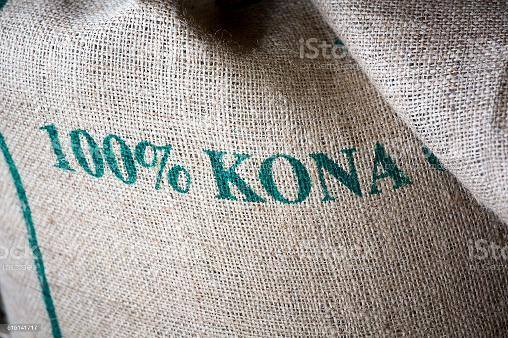Pure Kona Coffee Farm Hawaii The Big Island stock photo