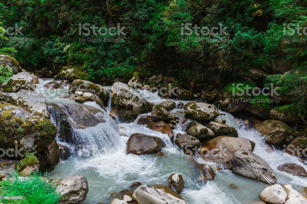 Pure mountain river royalty-free stock photo