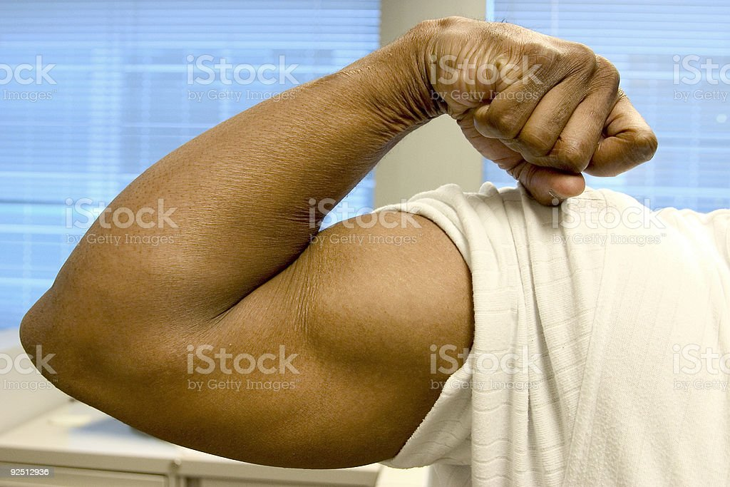 pure muscle stock photo