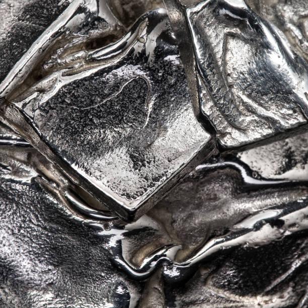 reines silber metall stück - platinum stock-fotos und bilder