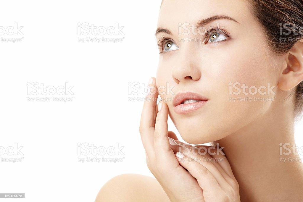Pure skin stock photo