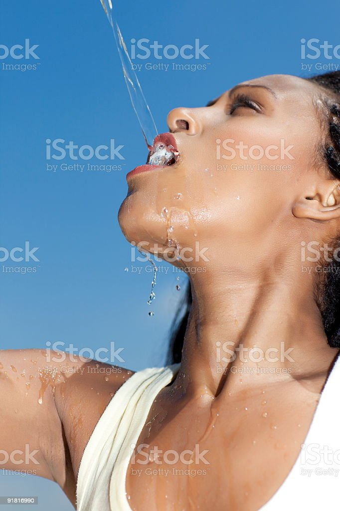 Pure water pouring royalty-free stock photo