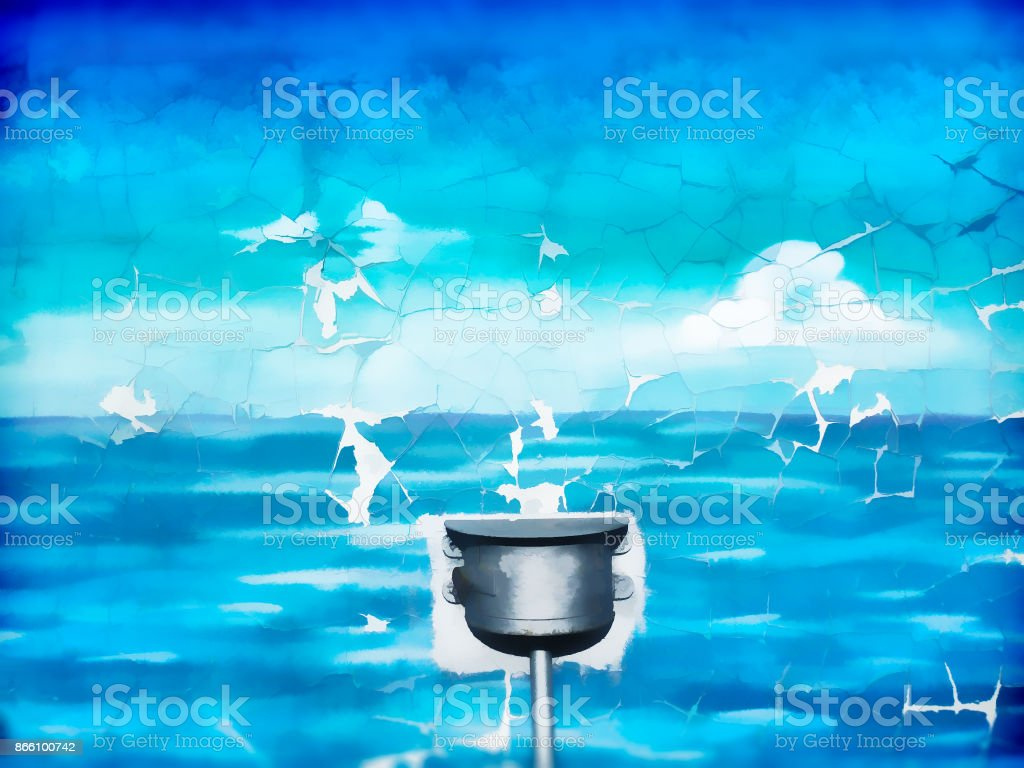 Pure water reservoir illustration background stock photo