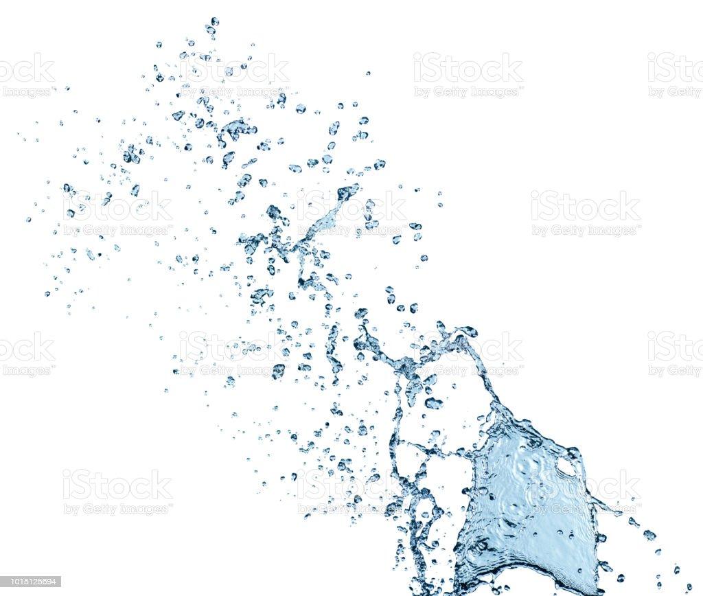 Beyaz arka plan üzerinde izole saf su sıçrama - Royalty-free Akan Su Stok görsel