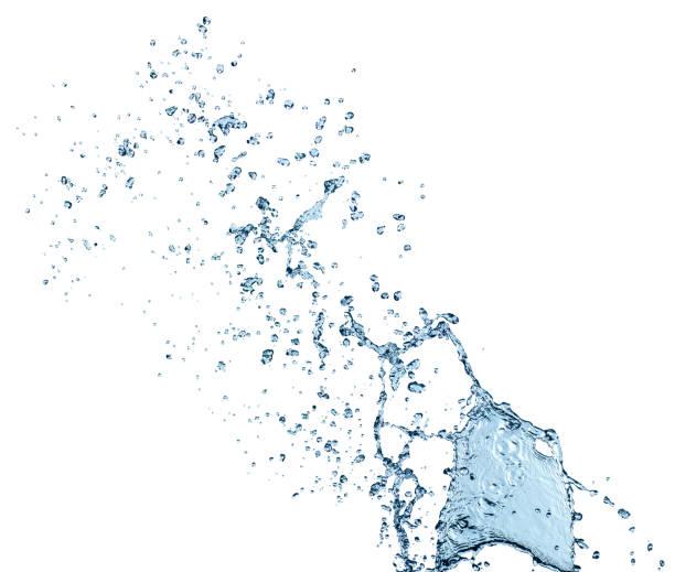 Reine Spritzwasser isoliert auf weißem Hintergrund – Foto