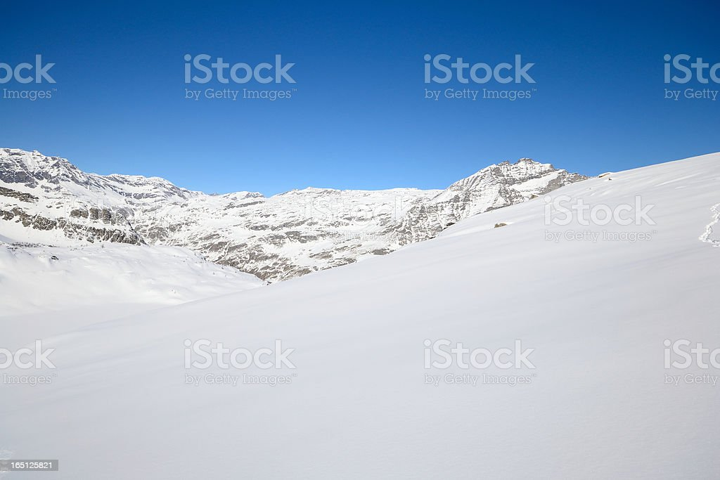 Pure white in the Alps royalty-free stock photo