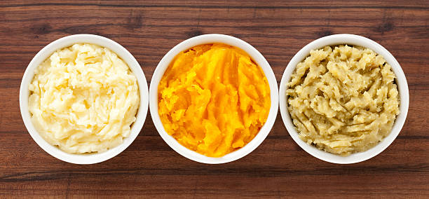 purees - mash food state stock photos and pictures