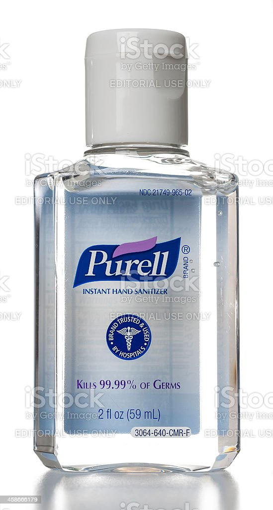 Purell Instant Hand Sanitizer bottle stock photo