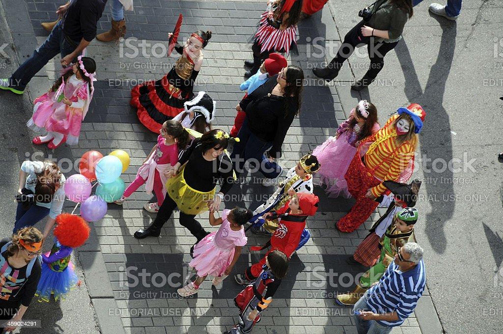 Purim Carnival royalty-free stock photo