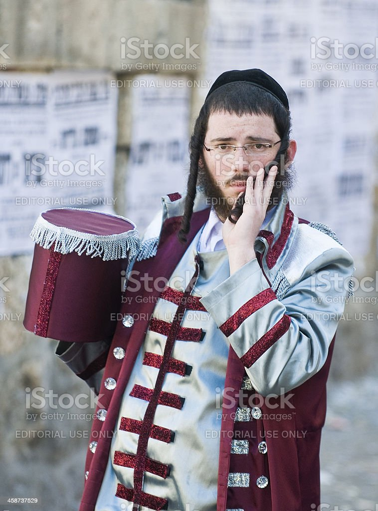 Purim in Mea Shearim royalty-free stock photo
