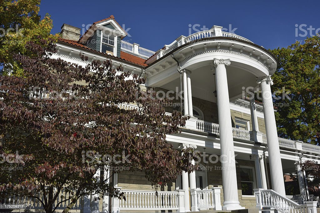 Purinton House in West Virginia University stock photo