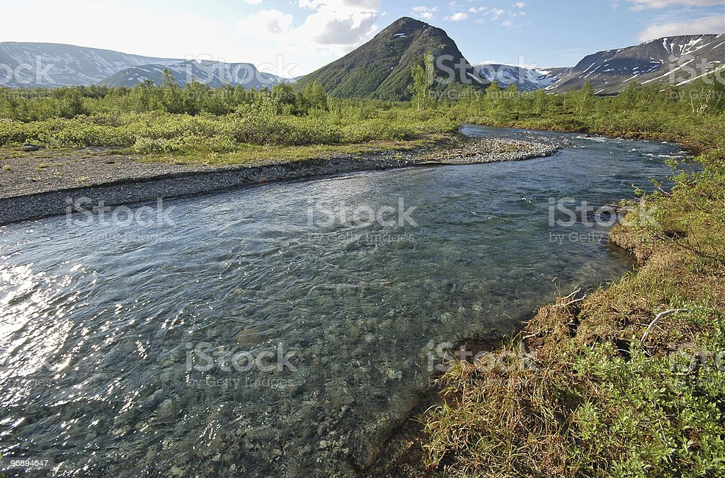 Purity of river water royalty-free stock photo