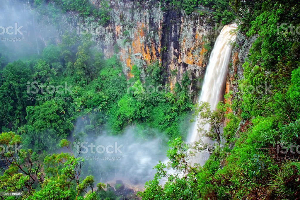 Purling Brook waterfall after the Rain royalty-free stock photo
