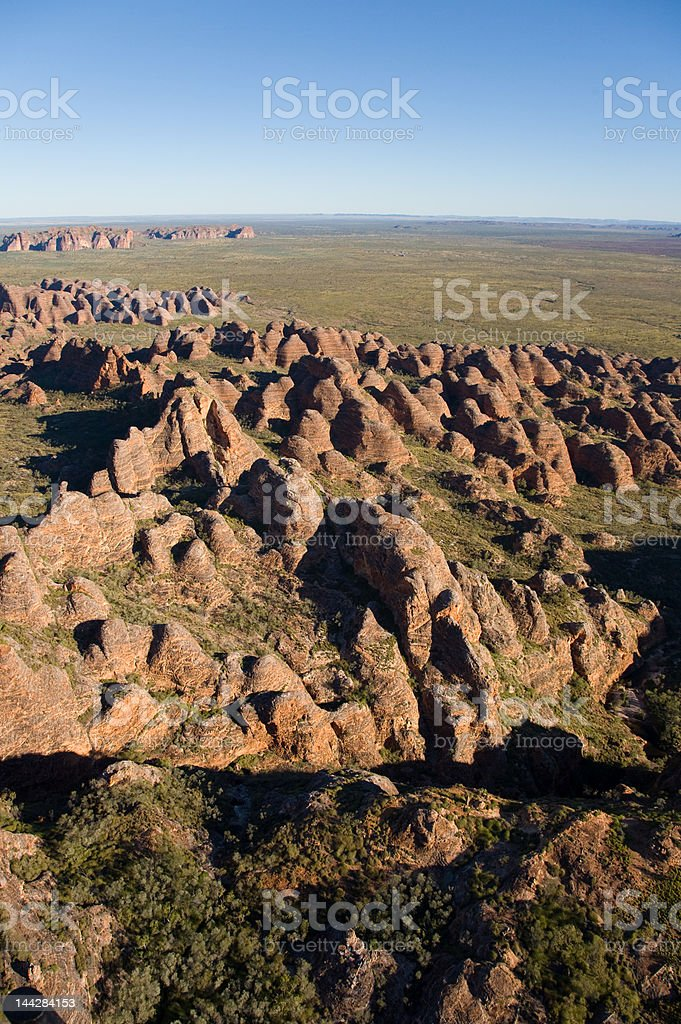 Purnululu from helicopter stock photo