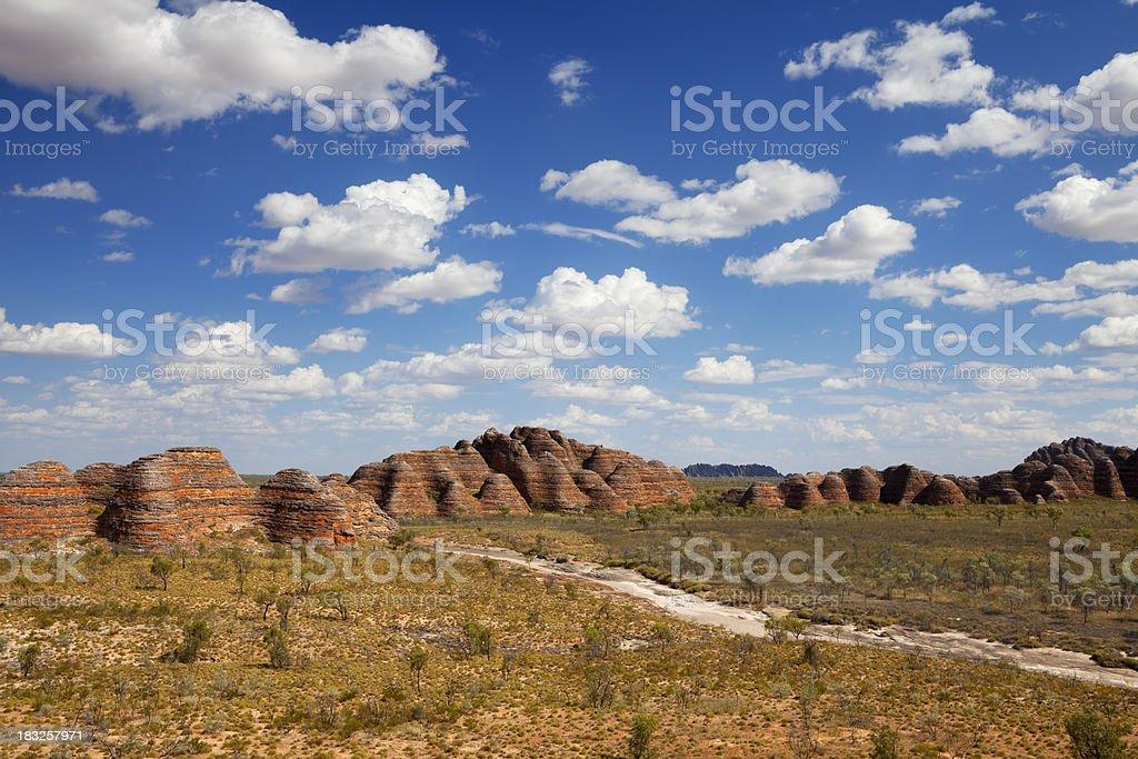 Purnululu National Park, Western Australia on a sunny day stock photo