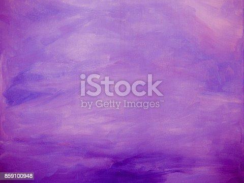 istock Purple Abstract acrylic background 859100948