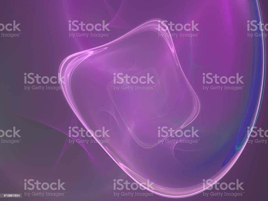 Purple abstract fractal stock photo