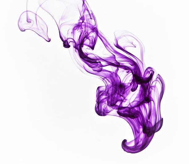 Purple abstract ink image on a white background stock photo