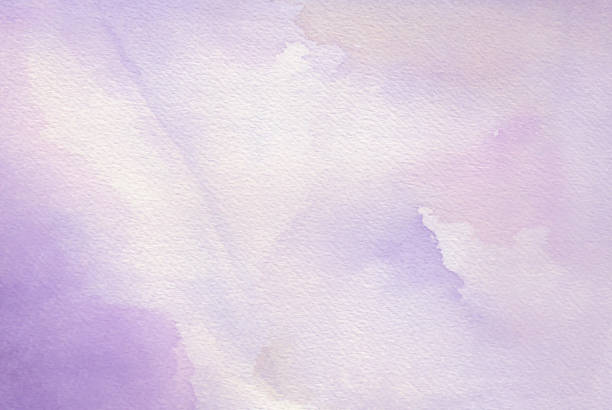 Purple abstract watercolor background stock photo