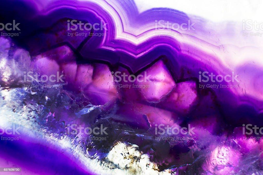 Purple Agate Stone stock photo