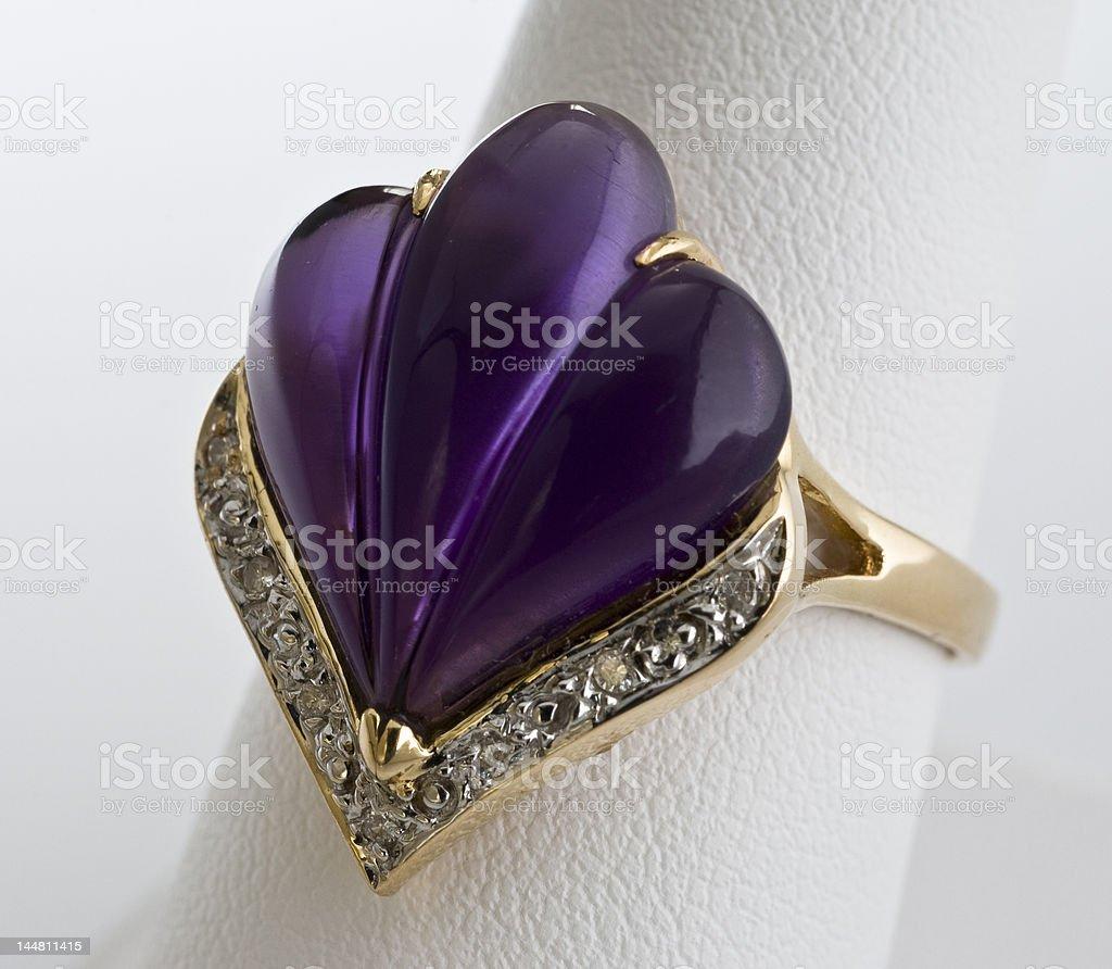 purple amethyst ring royalty-free stock photo
