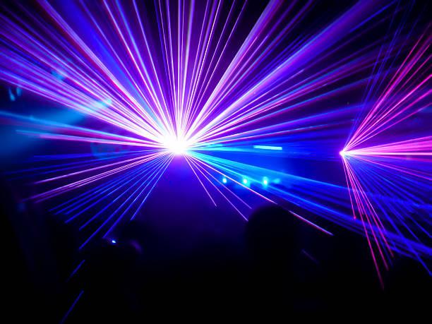 Violet et bleu lasers club - Photo